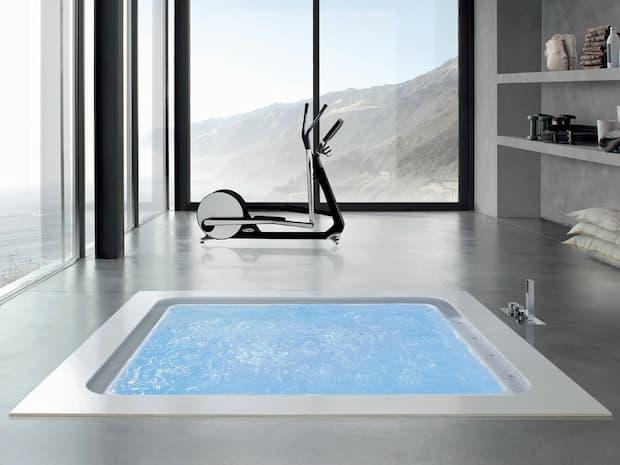 Spa en casa, bañera de hidromasaje empotrada, Geromin Group, Bolla Q infinity