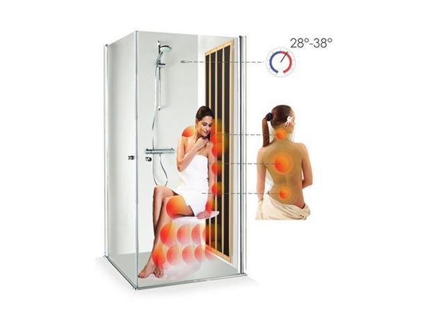 Spa en casa, Bagno Italia, panel de sauna de infrarrojos para ducha