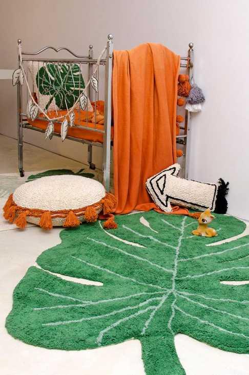 Monstera dans la chambre - Lorena Canals - Tapis Monstera Leaf