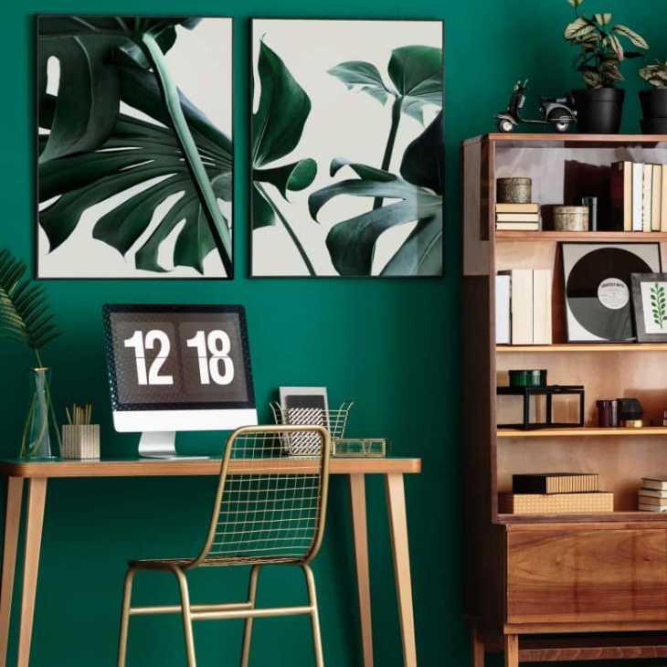 Affiche Monstera avec cadre - Wall-art