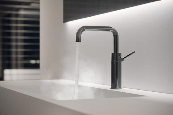 Miscelatore monocomando per lavabo con finitura Diamond Smoke PVD