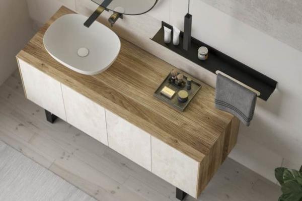Mobile da bagno moderno in legno massello di Legnobagno
