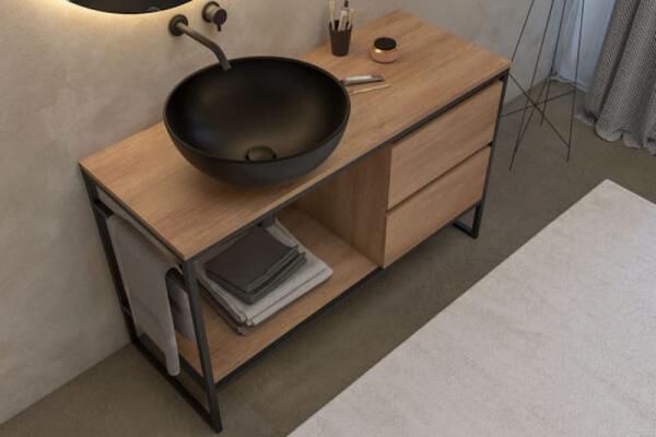 Mobile da bagno minimalista di Legnobagno