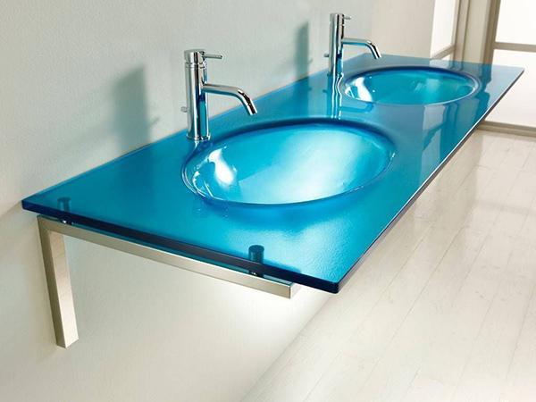 Lavabo en verre thermoformé Java - Infabbrica