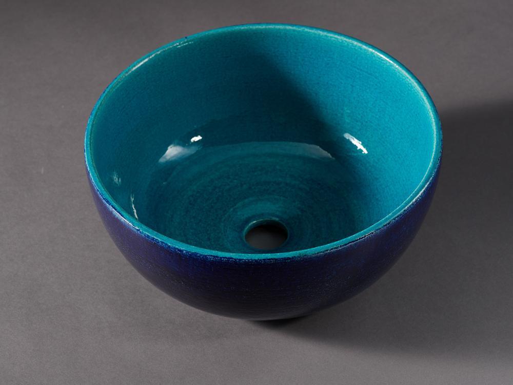 Lavabo da appoggio in ceramica decorata - Iperceramica