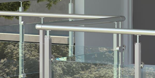 Barandillas Qube de acero y vidrio de Rintal
