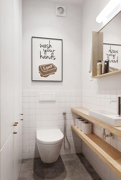 Baño de tamaño mínimo - Pinterest