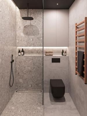 La doccia filo-pavimento è una buona soluzione salvaspazio - Pinterest