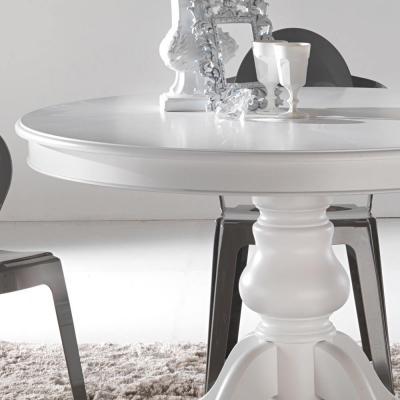 Tavolo classico in legno massello, Oliva, di Viadurini