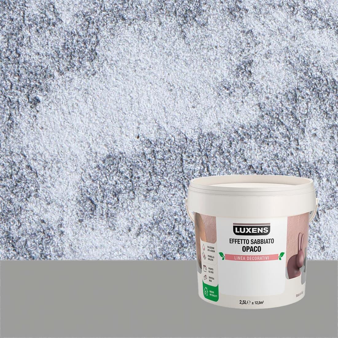 Pittura decorativa effetto sabbia, Leroy merlin, linea Luxens
