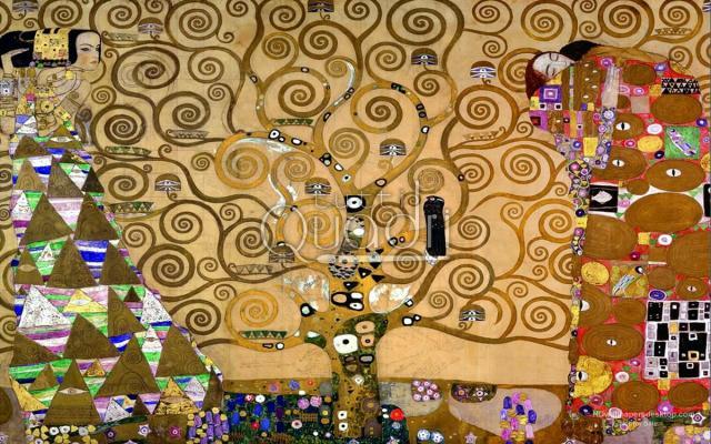 Klimt, albero della vita in mosaico