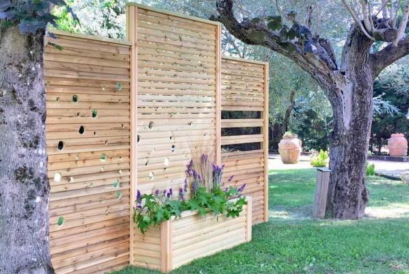 Divisori giardino con fioriere - Aquilani