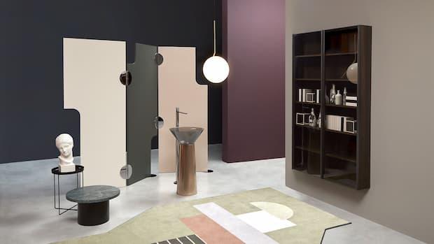 Albume freestanding metal washbasin Antonio Lupi design