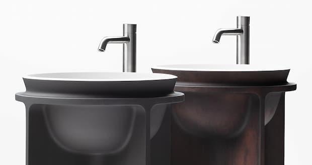 Detail of freestanding washbasin Counter-mold WA7 Falper