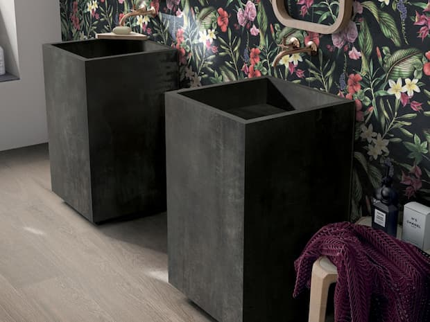 Tropicana widestyle pedestal washbasin Abk design