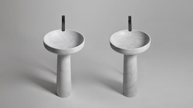 Antonio Lupi design freestanding stone washbasin