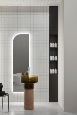 Lavabo freestanding in sughero naturale Antonio Lupi design
