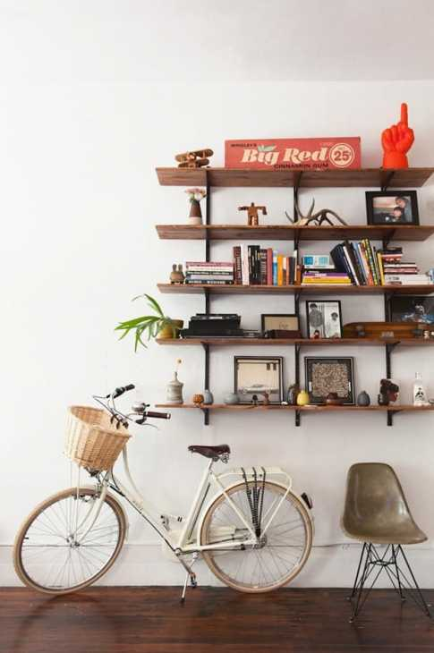 Bicicleta en casa, de refinery29.com