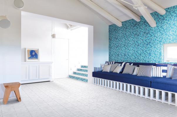 Casa al mare con toni del turchese  - Cerasarda - Pitrizza Mosaic Spaccatella bicolored