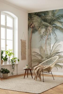 Casa al mare stile tropical - Komar - Carta da parati Palm Oasis