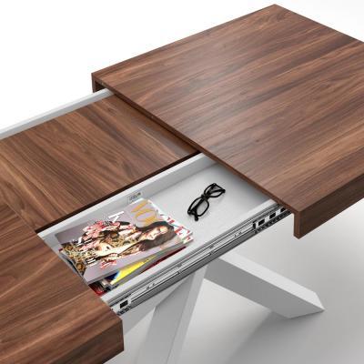 Scomparto segreto del tavolo estensibile Emma 160 di Mobili Fiver