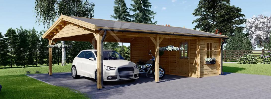 Un carport legno è molto utile per ricoverare le auto - Pineca
