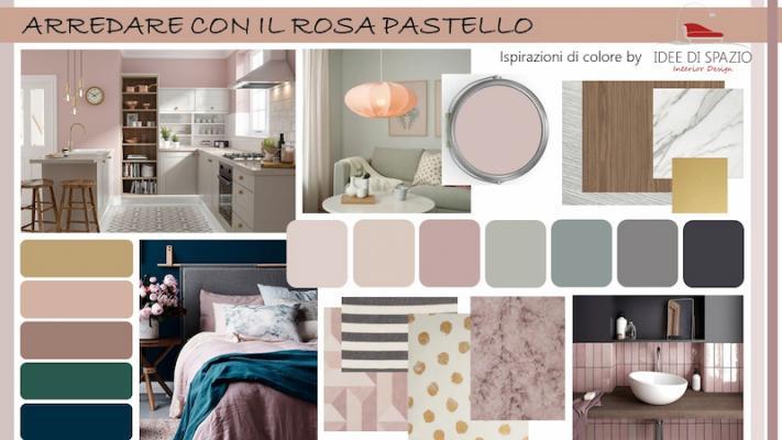 Moodboard abbinamenti rosa pastello by Idee di Spazio interior design
