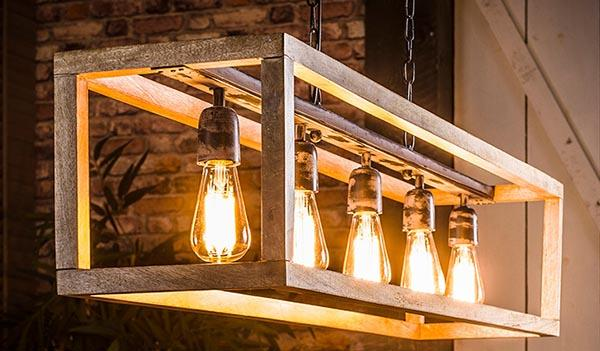 Wood suspension chandelier Bosco di Miliboo