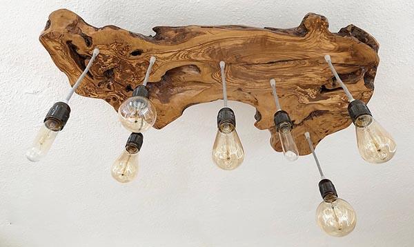 Wanos olive wood chandelier