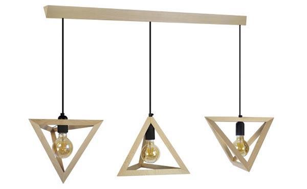 Dune wooden chandelier by Miliboo