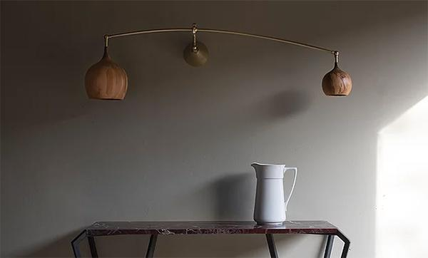 Wooden Wall Lights Cupola Poise Wall Light by Tamasine Osher
