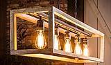Lampadario in legno a sospensione Bosco di Miliboo