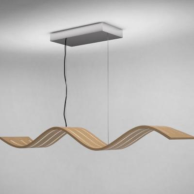 Lampadario a sospensione Wave di Wooden Lamp Design