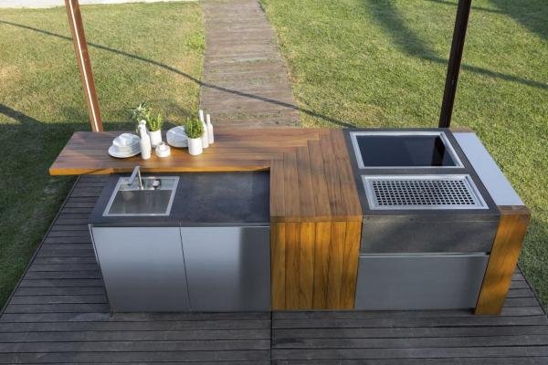 Cucine di lusso sono anche per ambienti esterni - Aster outdoor