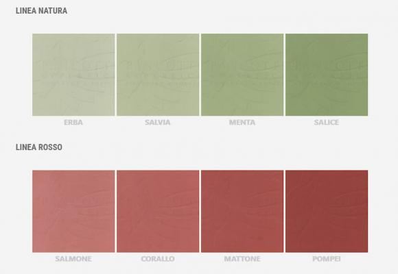 Linea colori Ecomateria Plus, Pancotti superfici