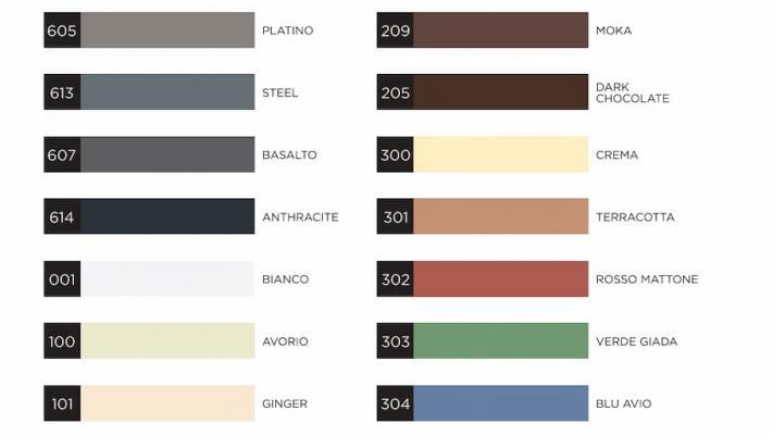 Cartella colori della linea di sigillanti webercolor premium