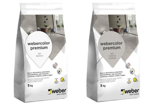 Sigilante colorato per fughe, soluzioni webercolor premium