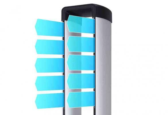 Ventilatore Djive con design lamellare