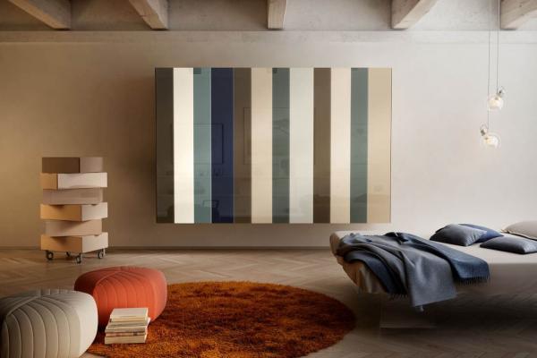 Idee di arredo per camere da letto in stile moderne, cassettiera Morgana di Lago design