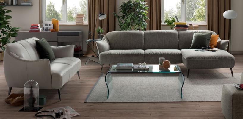Divani e Divani offerte, divano con chaise longue, linea Estasi