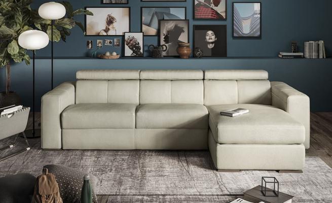 Divani e divani, modelli con chaise-long, linea Piacevole