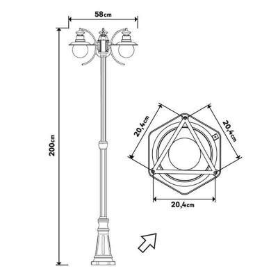 Dimensioni lampione marina di Leroy Merlin