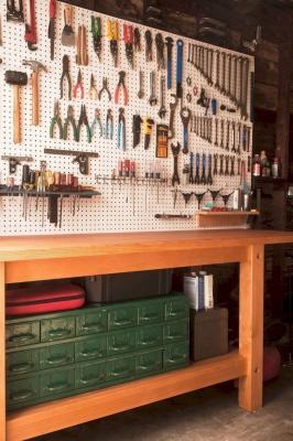 Pannello forato in garage, da curbly.com