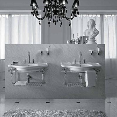 Coppia di lavabi retrò di Ceramica Globo serie Paestum