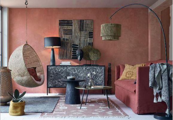 Salotto rosso mattone di Maisons du Monde