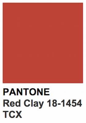 Rosso mattone Pantone Red Clay