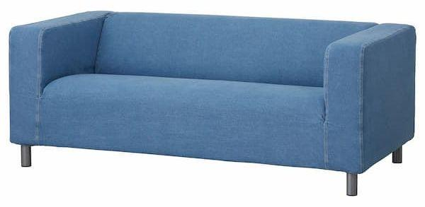 Cover for sofa Klippan by Ikea, here in the blue version