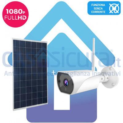 Telecamera senza fili con pannelli solari