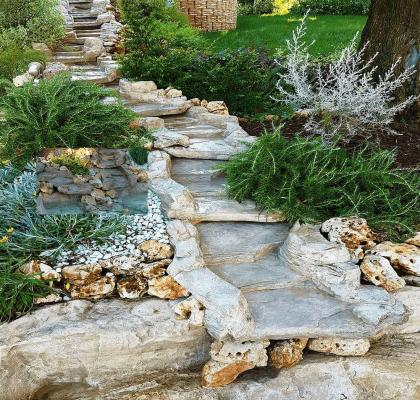 Cascata in giardino - Gardenstone