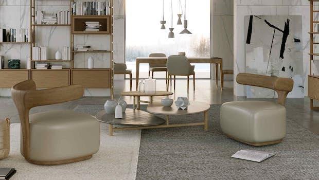 Classic contemporary living room: Layer coffee table - Photo: Morelato